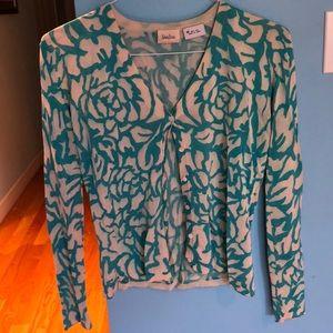 Neiman Marcus 100% Silk Cardigan size M